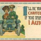 AUTO CAR CHAFFEUR WRENCH GOGGLES SB 1913  POSTCARD