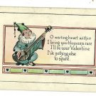 VALENTINE  MANDOLIN  SERENADE  POSTCARD MUSICAL MUSIC