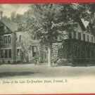 FREMONT OHIO OH HOME OF  EX PRESIDENT HAYES POSTCARD
