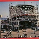 LONG BEACH CALIFORNIA CYCLONE ROLLER COASTER  POSTCARD