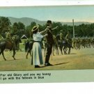 ILLUSTRATED SONG PATRIOTIC OLD GLORY HORSES POSTCARD