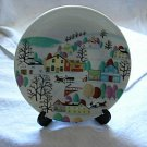 Collectible Vintage Plate & Stand Made in Japan Beautiful Hand Painted Scene
