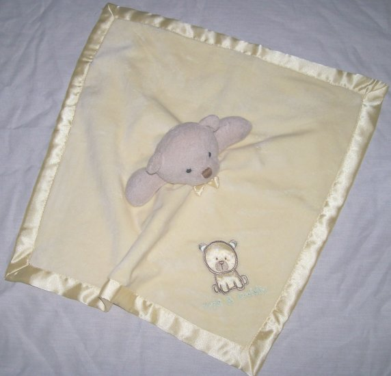 NWT CARTERs YELLOW BEAR Cute and Cuddly SECURITY BLANKET