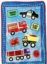NIP TONKA Trucks Ultra Soft Plush BLANKET for Toddler Bed or Baby Nursery Crib