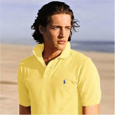 NEW RALPH LAUREN CLASSIC MESH POLO SHIRT L Yellow NWT