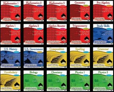 20 Pack High Achiever Math Educational Software for Middle and High School Students 6 to 12th Grade
