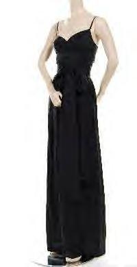 NWT BCBG Max Azria COLLECTION Black Silk Habotai Dress Jumpsuit Misses XS 2