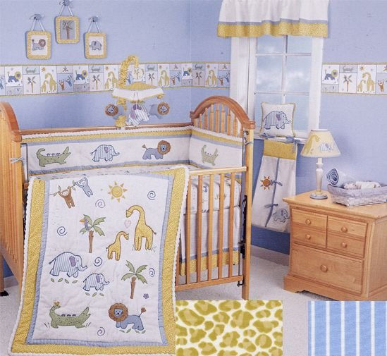 NEW Lambs and Ivy ANIMAL TALK 6 Piece Baby Boy or Girl Nursery Crib Bedding Set NIP