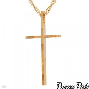 Exquisite Brand New Cross Necklace Made of Gold