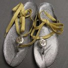 Tory Burch Jelly Silver Thong Sandals
