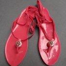 Tory Burch Jelly Fuchsia Pink Thong Sandals
