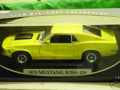 1:18 Scale 1970 Ford Mustang Boss 429 Yellow