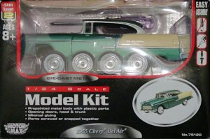 1:24 Scale Diecast 1955 Chevy Bel Air Model Car Kit