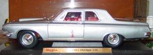 1963 Dodge 330 2 Door Sedan 1:18 Scale Diecast