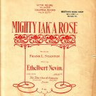 Mighty Lak' A Rose, 1901 Irish Song Sheet Music - 107
