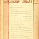 In The Time of Roses,  Song for Low Voice Vintage Sheet Music - 106