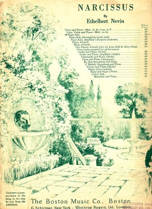Narcissus, 1899 Vintage Piano Solo Sheet Music - 103