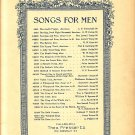 The Tempest King, Songs for Men Series Vintage Sheet Music - 115