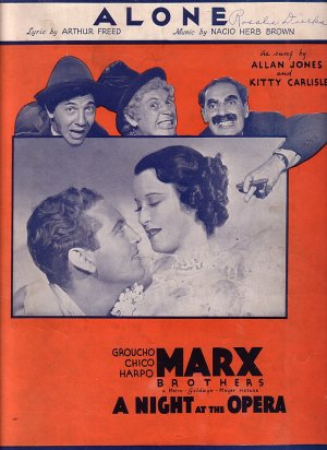 Alone, from MGM Picture A Night at the Opera with the Marx Brothers, 1935 Vintage Sheet Music - 121