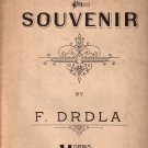 Souvenir by F. Drdla 1924 Vintage Sheet Music - 126