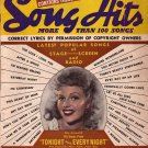 April 1945 Song Hits, A Song Lyrics Publication - 128
