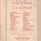 To You by C.B. Hawley 1909 Vintage Sheet Music - 0130