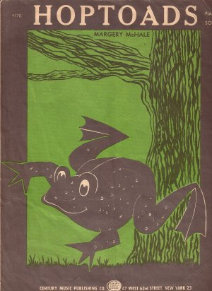 Hop Toads by Margery McHale 1955 Childrens Sheet Music - 0131