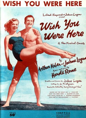 Wish You Were Here 1952 Vintage Sheet Music - 0133