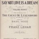 Say Not Love is a Dream, 1936 Vintage Sheet Music - 0152