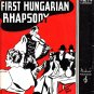 First Hungarian Rhapsody by Moissaye Boguslawski, 1936 Vintage Sheet Music 0156