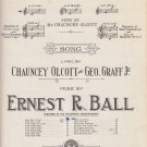 When Irish Eyes Are Smiling by Ernest R. Ball, 1912 Vintage Sheet Music - 0165