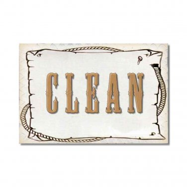 Dishwasher Clean Dirty Flip Magnet western Flip cowboy cowgirl country Stainless Steel Option