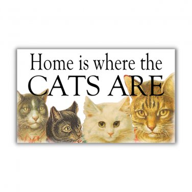 Home is where CATS are fridge Magnet kitchen cat lovers cat magnet vintage cat art refrigerator