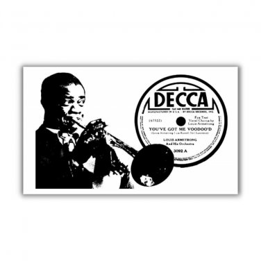 Louis Armstrong Magnet refrigerator fridge kitchen Blues voodoo record label classic jazz satchmo