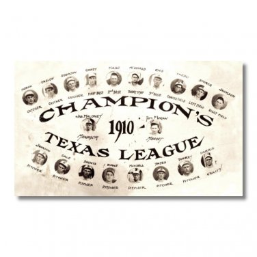 Baseball 1910 Texas League Champions fridge Magnet kitchen vintage baseball team postcard