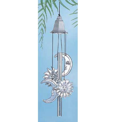 Metal Sun & Moon Wind Chimes