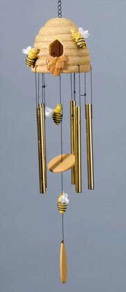 Honeycomb With Bees Wind Chimes