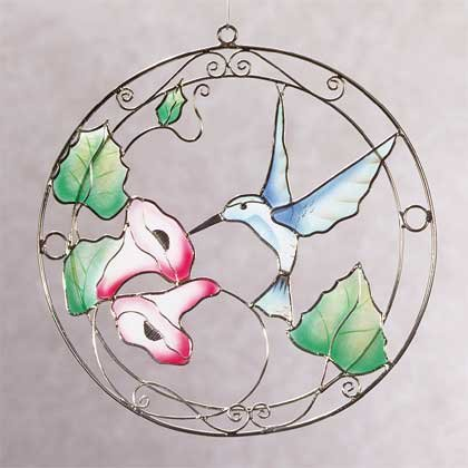 Capiz Hummingbird Sun Catcher