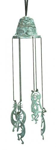 Brass Kokopelli Bell Wind Chimes