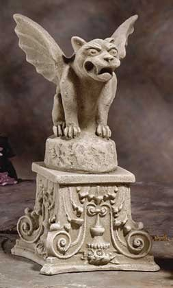 Gargoyle On Pedestal