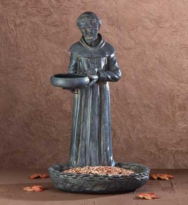 St. Francis Birdbath and Feeder