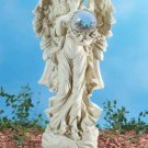 Garden Angel with Gazing Ball