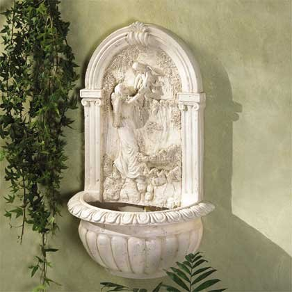 Angel with Child Wall Fountain