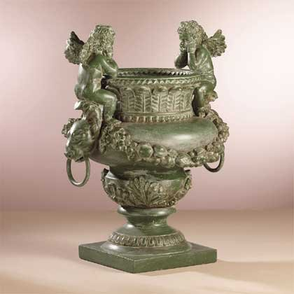 Antique Green Urn