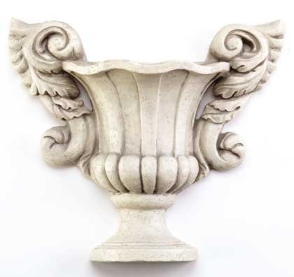 Ivory-Finish Urn Wall Planter