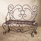 Hammered Iron Garden Bench