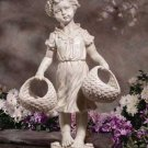 Country Girl Statue Birdfeeder