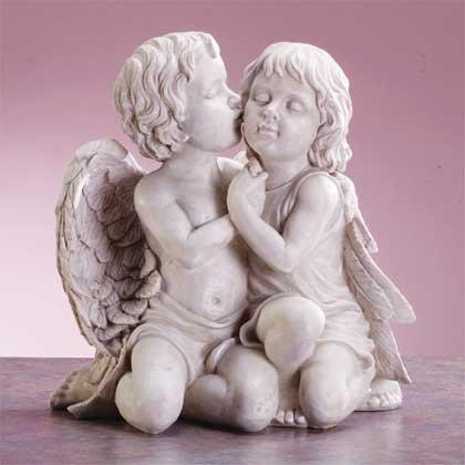 Kissing Cherubs Sculpture