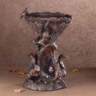 Squirrel Design Birdbath