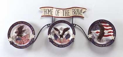 Eagle and Flag Plate Set